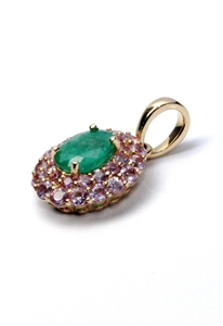 18ct Yellow Gold, 1.47ct Emerald and Pin