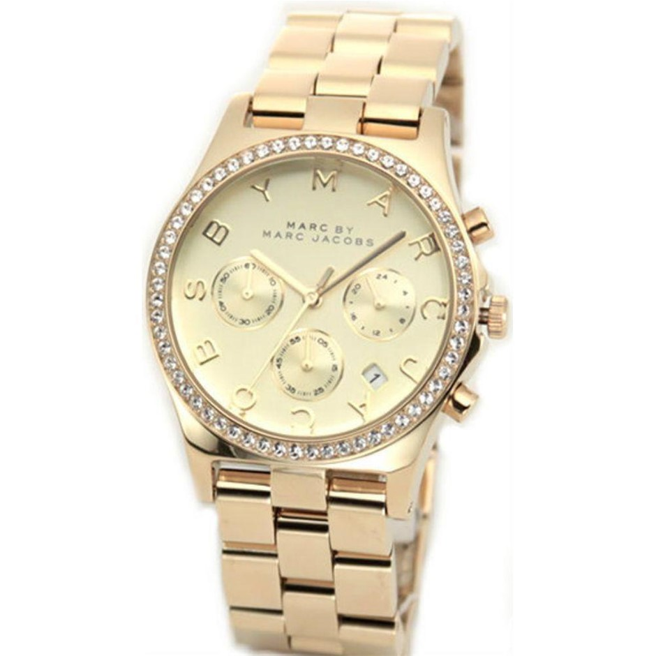 Gorgeous new Marc by Marc Jacobs gold-plated ladies watch.