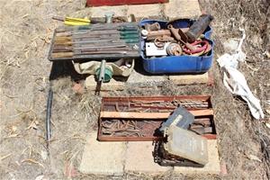 Assorted Drill Bits, Tools & Bolts