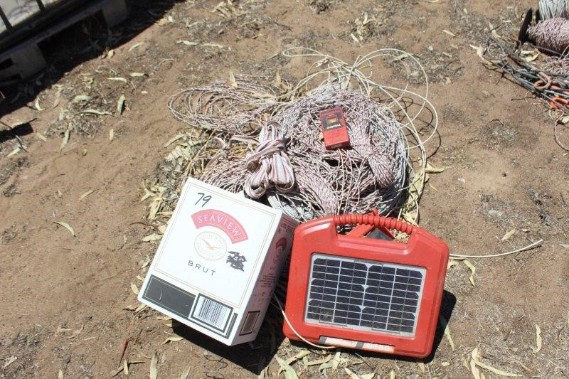 Electric Fence Unit, Wire, and Caps