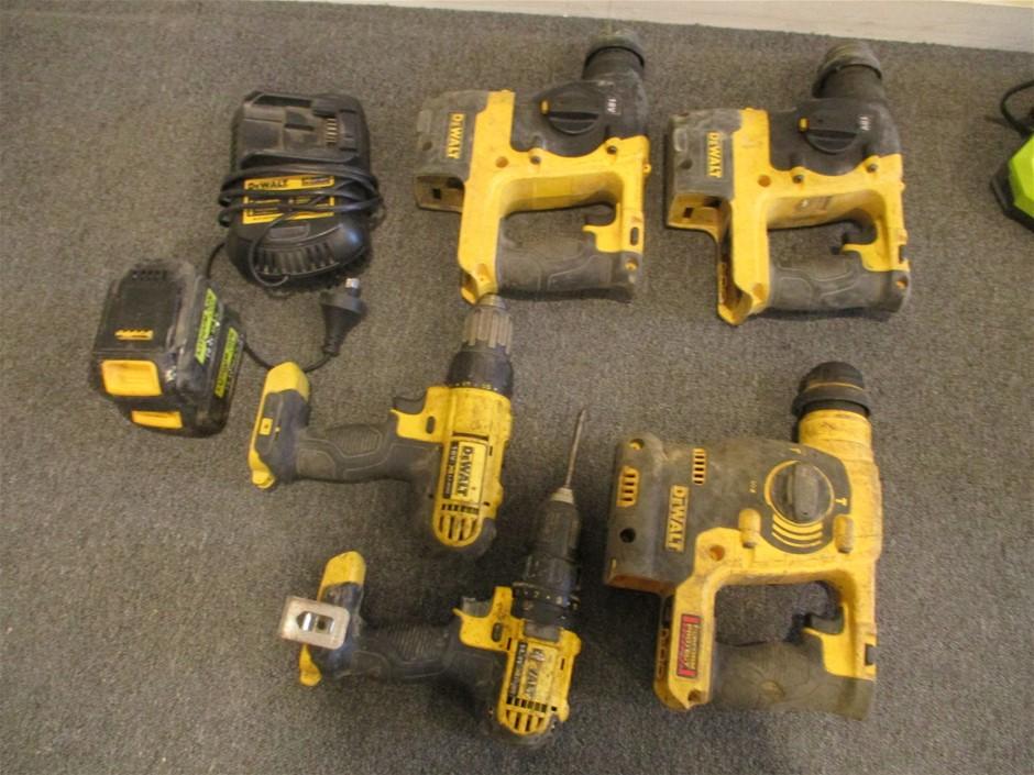 5x Assorted DeWalt 18V Cordless Tools