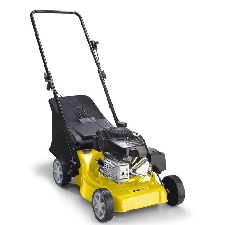YARDKING Self Propelled 4-Stroke 138cc Lawn Mower, 20ins w/ Catcher. (SN:88