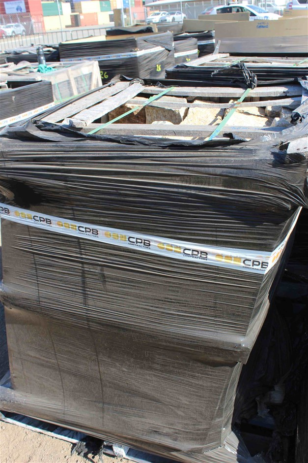Pallet of Sandstone 100lb Cable Stones