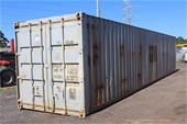 Unreserved Shipping Containers, Pavers & Construction Equip