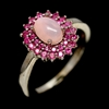 Gorgeous Genuine Australian Opal & Ruby Ring.
