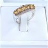 Gorgeous Citrine & White Topaz Ring