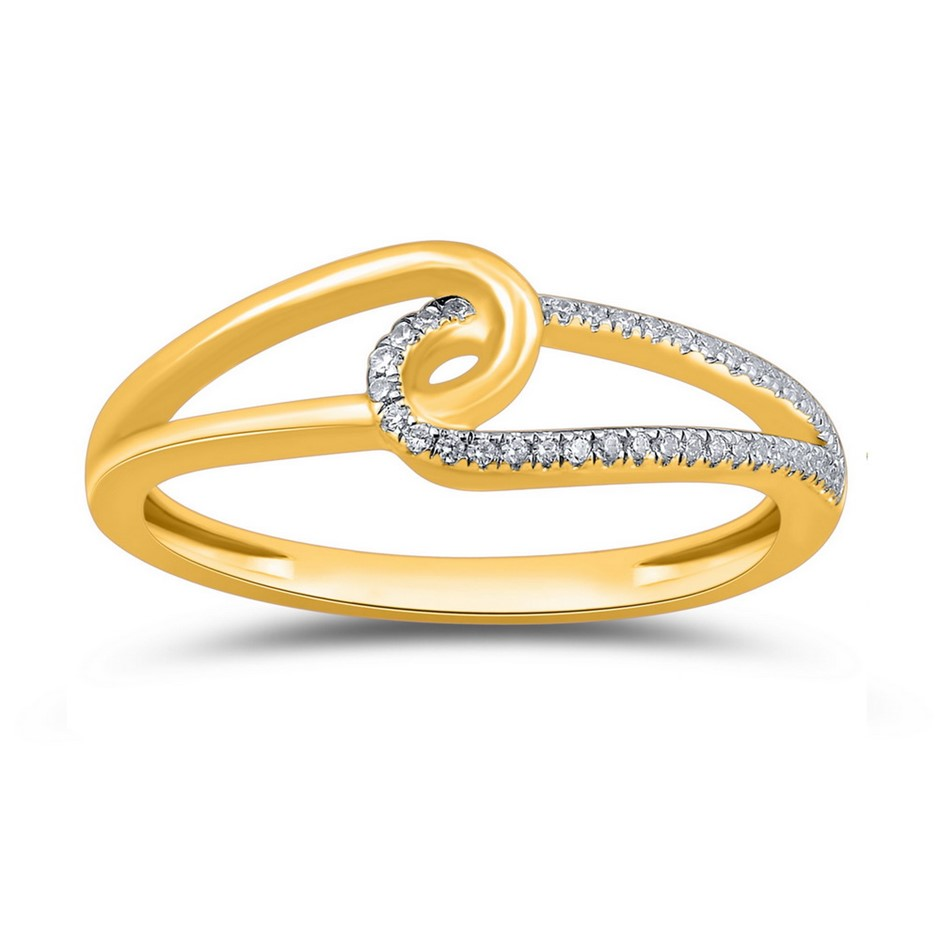 9ct Yellow Gold, 0.06ct Diamond Ring