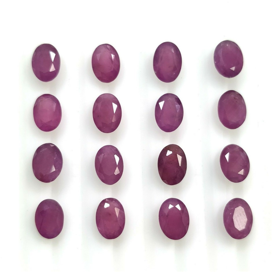 Sixteen Loose Ruby, 31.00ct in Total