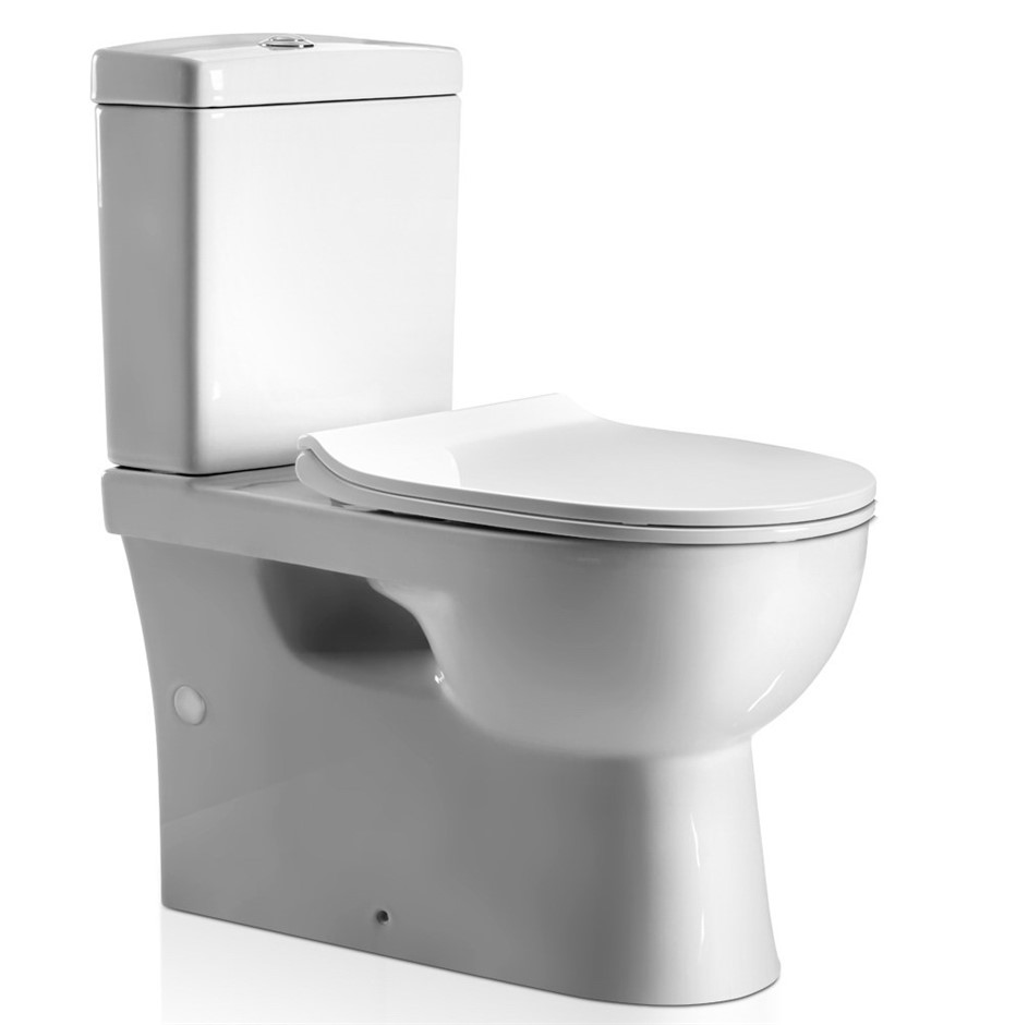 Cefito Back to Wall Bathroom Toilet Suite Rimless Flush Soft Close P S Trap