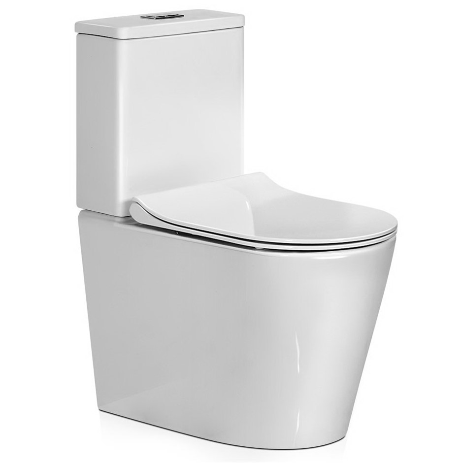 Cefito Bathroom Toilet Suite Ceramic Rimless Flush Back to wall P S Trap