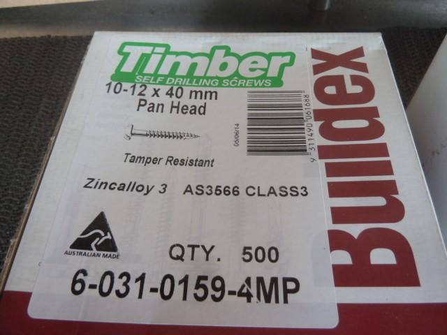 Qty 1,000 Timber Self Drilling Screws (Pooraka, SA)