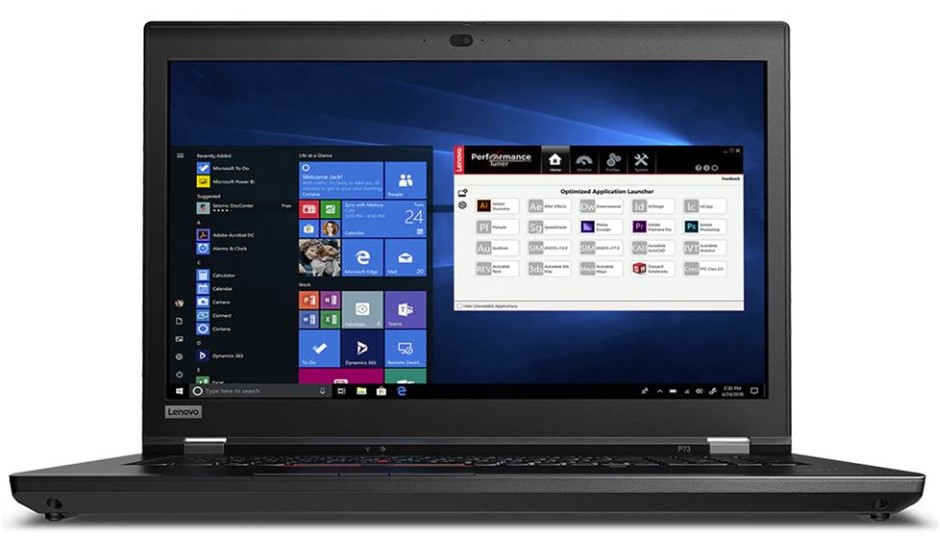 Lenovo ThinkPad P73 17-inch Notebook, Black
