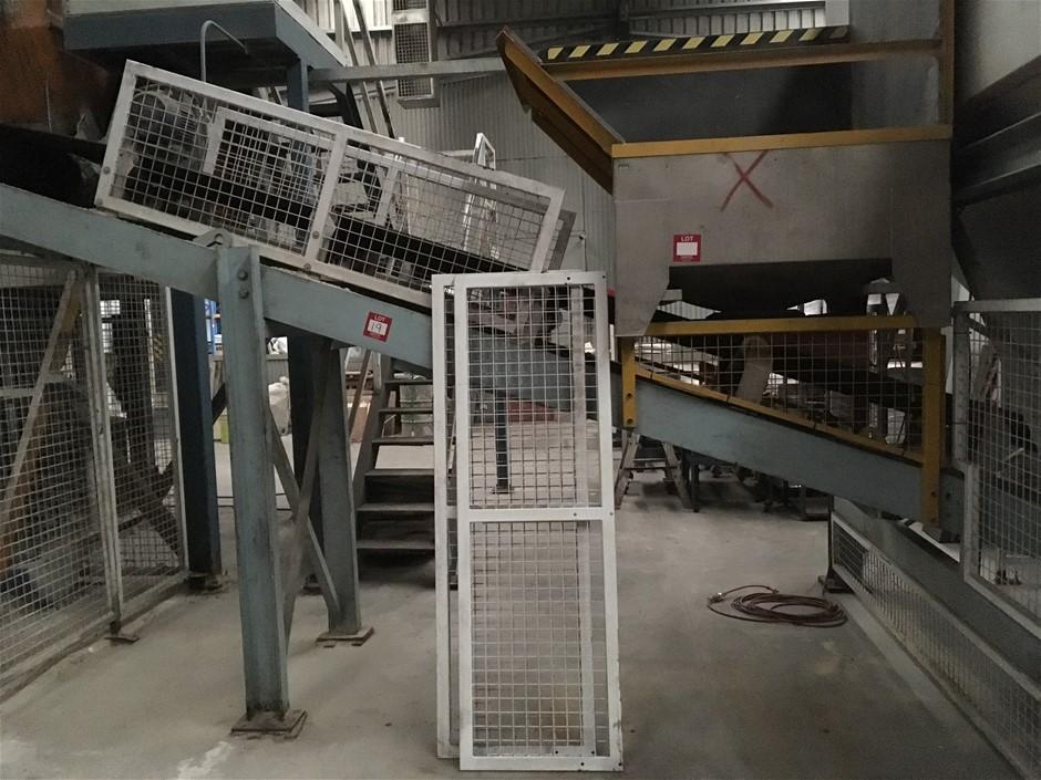 Belt Conveyor. 6m long. 600mm (W).