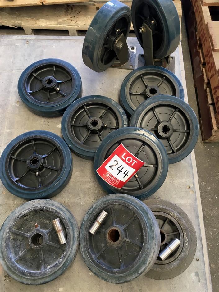 2 x new Heavy duty swivelling castor wheels.