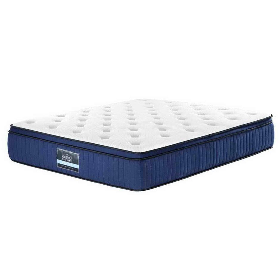 Giselle Bedding KING Mattress Bed Pocket Spring Cool Gel Memory Foam 7 Zone