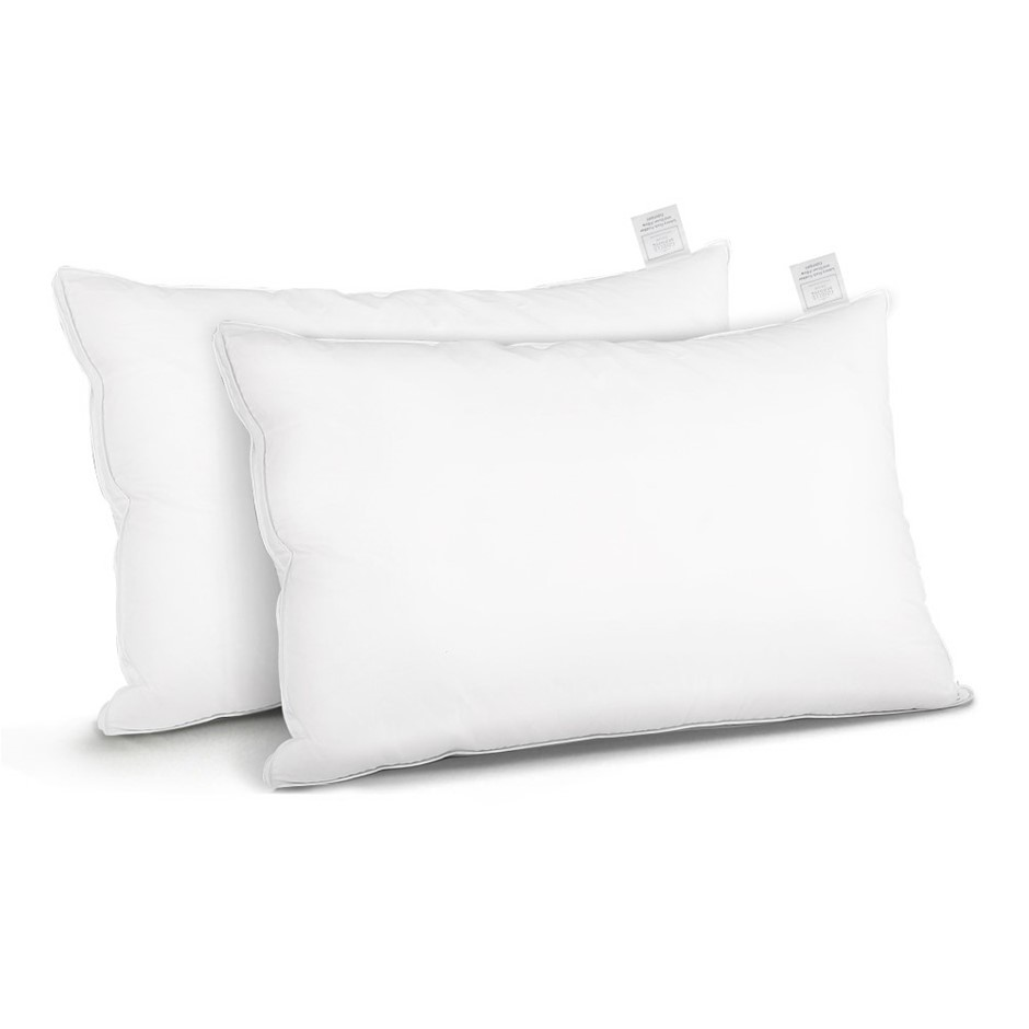 Giselle Bedding Duck Feather Down Twin Pack Pillow