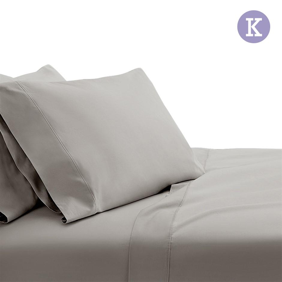 Giselle Bedding King Size 1000TC Bedsheet Set - Grey