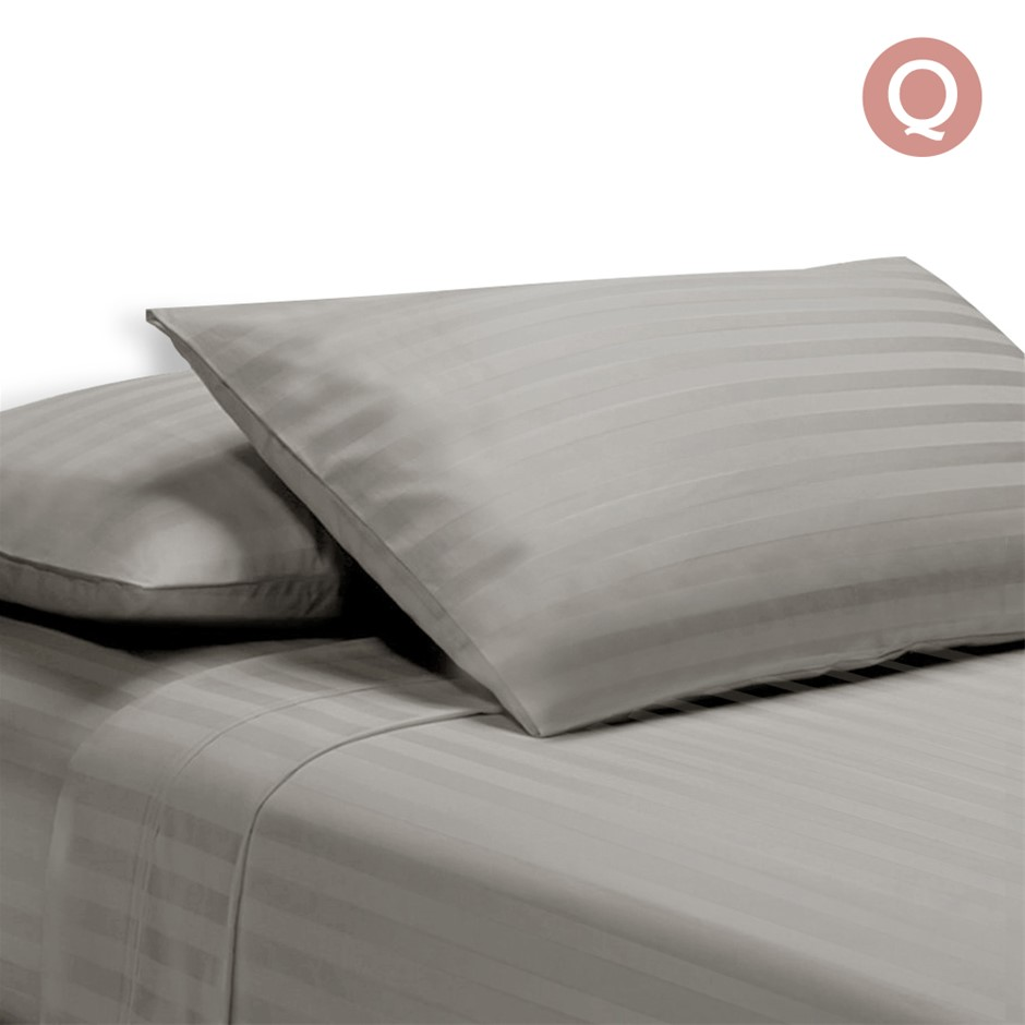 Giselle Bedding Queen Size 4 Piece Bedsheet Set - Grey