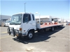2004 Mitsubishi FK6 Fighter 4x2 3 Car Carrier Truck and Trailer