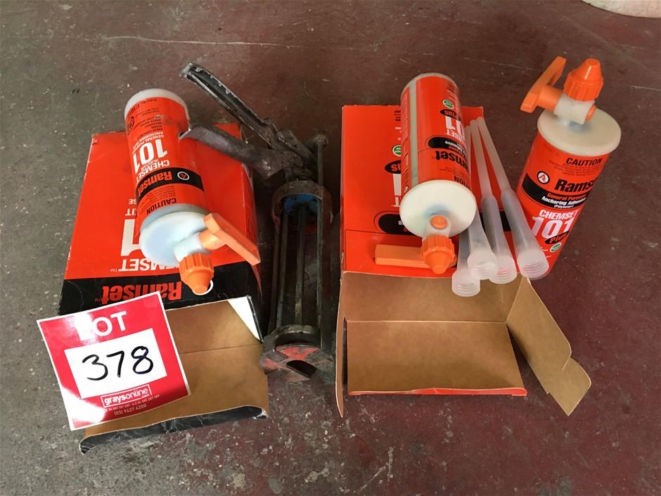 Ramset Gun & Chemset epoxy 2 x new 1 x 1/2,