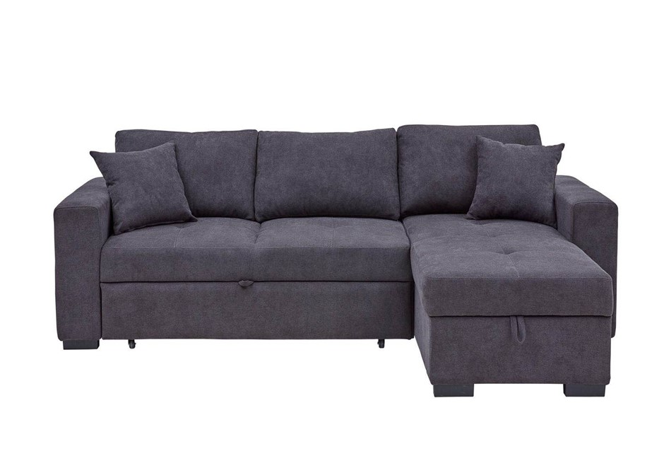 Eva 2.5 Seater Sofa Bed with Storage Chaise - Storm