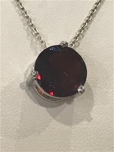 Stunning Genuine 5.75ct Garnet Pendant