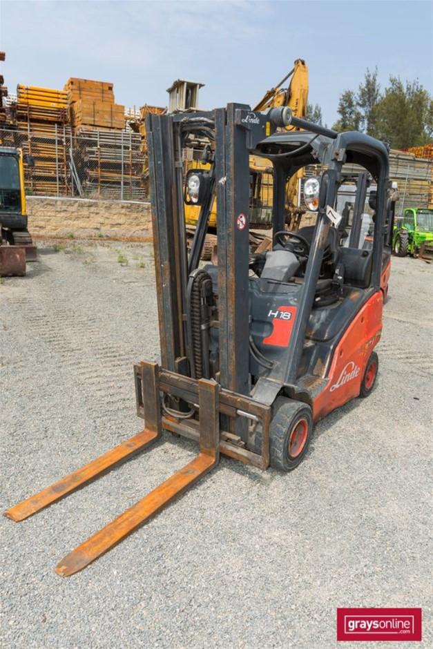 2007 1.8 Tonne Linde H18 4 Wheel Counter Balance Forklift
