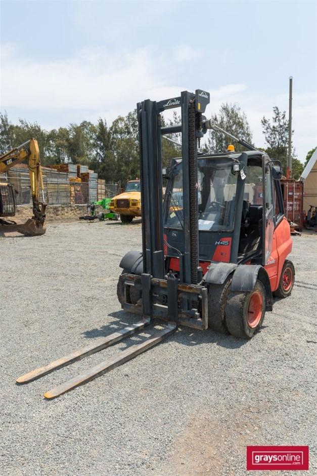 2004 4.5 Tonne Linde H45D 4 Wheel Counter Balance Forklift