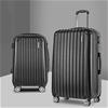 Wanderlite 2PCS Carry On Luggage Sets Travel Hard Case Lightweight Black