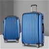 Wanderlite 2PCS Carry On Luggage Sets Travel Hard Case Lightweight Blue