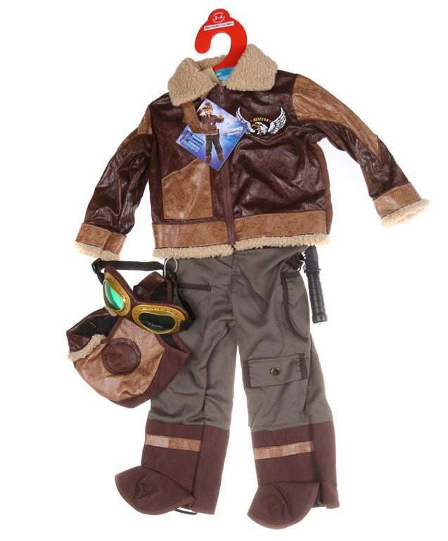 ADVENTURE FACTORY Children`s (Boy`s) Aviator Costume, Size 5-6. Buyers Note