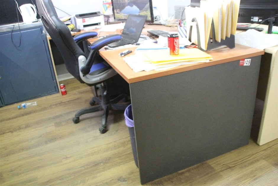 Office Desk & Chair, 3 Drawers