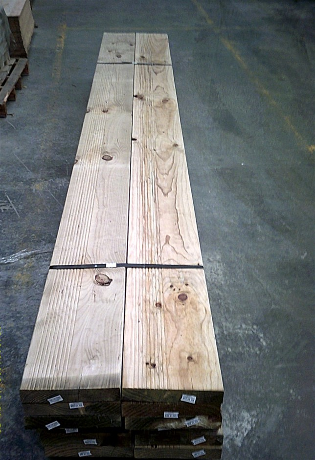 Pack of 6 lengths of 240mm x 45mm H3 Treated Pine,.