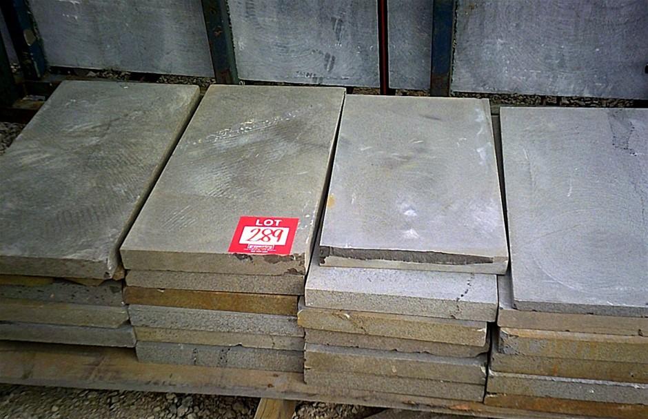 Approximately 18 Bluestone pavers. 600mm x 300mm x 40mm THICK