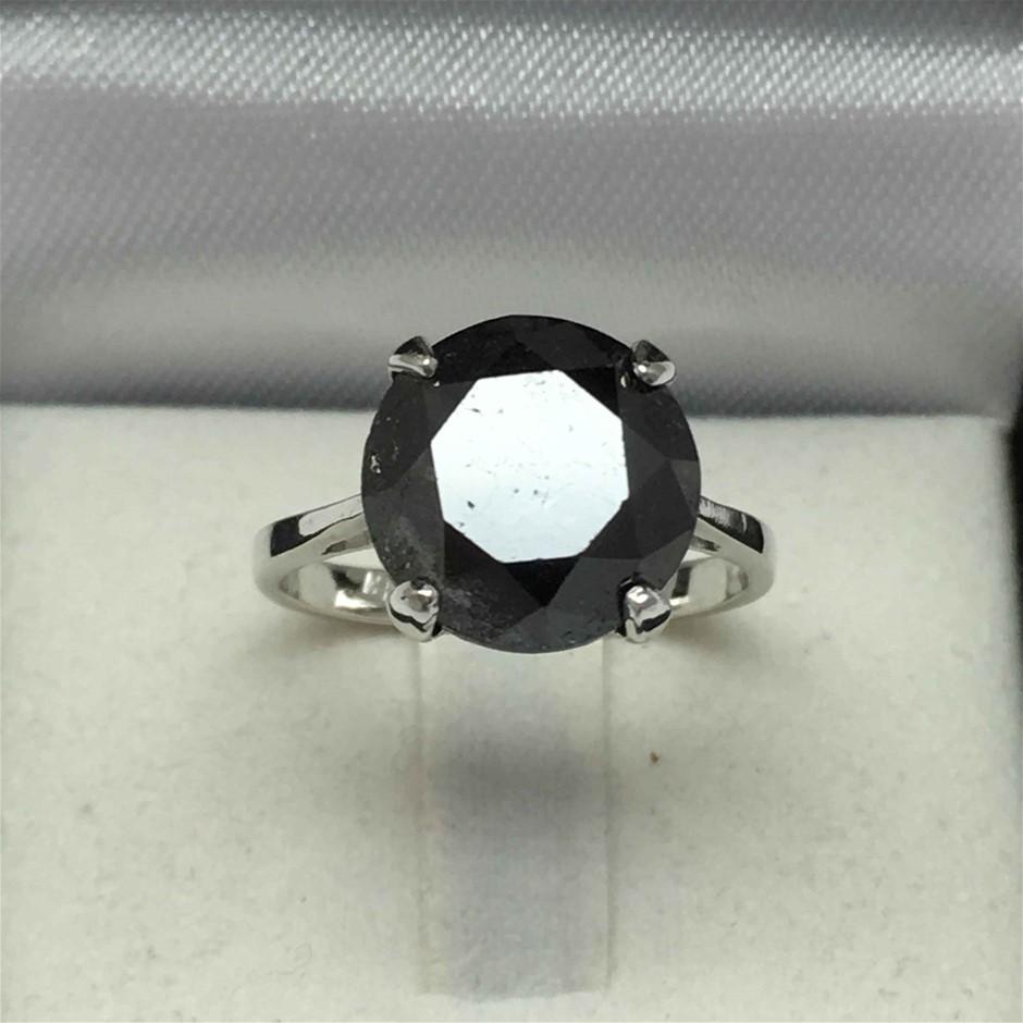18ct White Gold, 6.63ct Diamond Ring