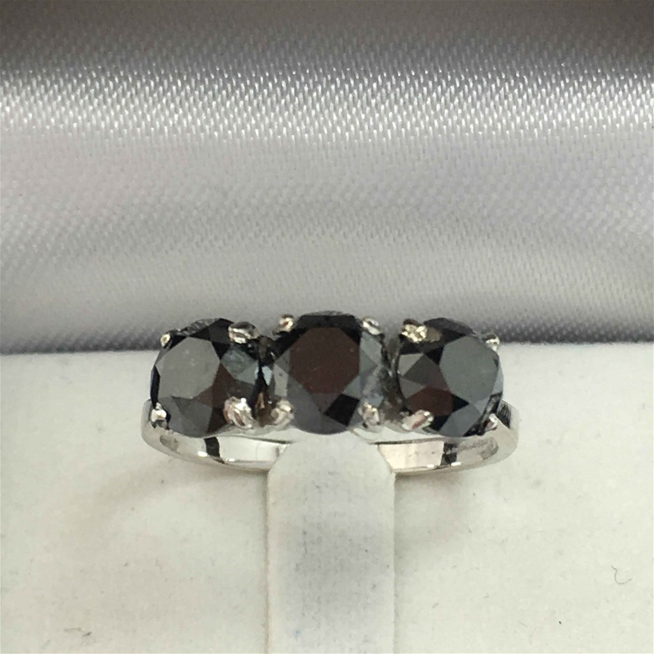 18ct White Gold, 3.24ct Diamond Ring