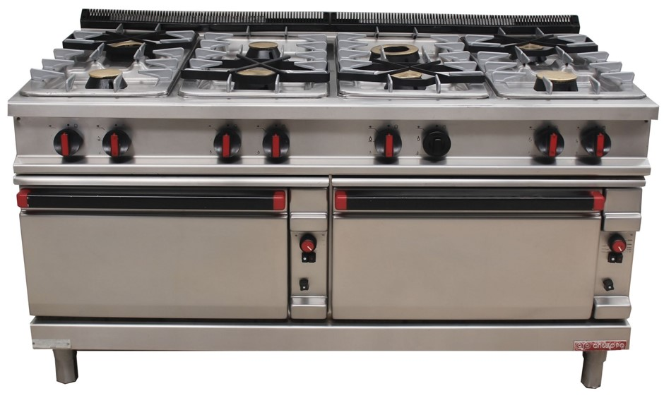 ANGELO PO GAMMA GAS 8 BURNER DOUBLE OVEN, QUALITY COMMERCIAL KITCHE