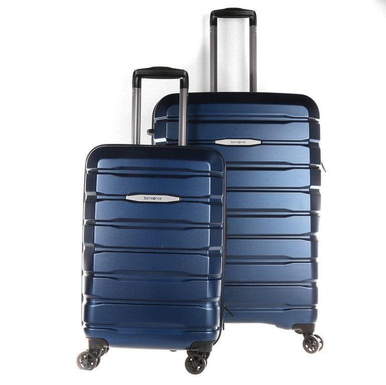 SAMSONITE Hardside Spinner 2pc Luggage Set, 68cm & Carry-on. Blue. N.B mino