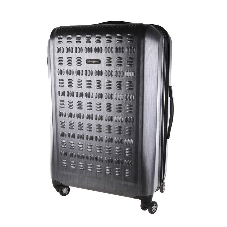 SAMSONITE Hardside Spinner Luggage, 68cm, Shinny Black. N.B Minor marks. (S