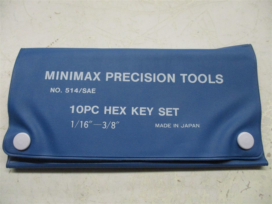 1x Carton of Minimax 10 Piece Imperial Hex Key Sets in Plastic Wallet