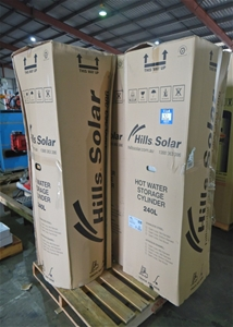 Qty 3 Hills Solar/Electric Hot Water Sto