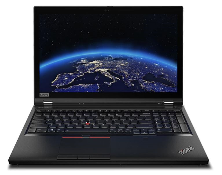 Lenovo ThinkPad P53 15.6-inch Notebook, Black
