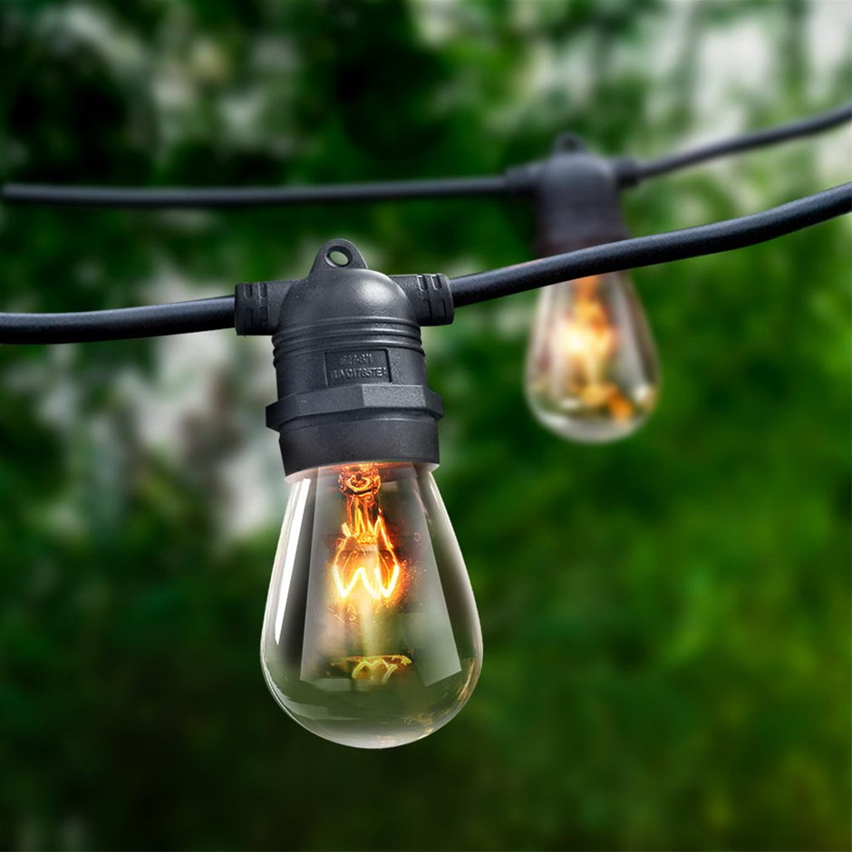 Jingle Jollys Festoon String Lights Christmas Bulbs 50 Outdoor Garden 56m