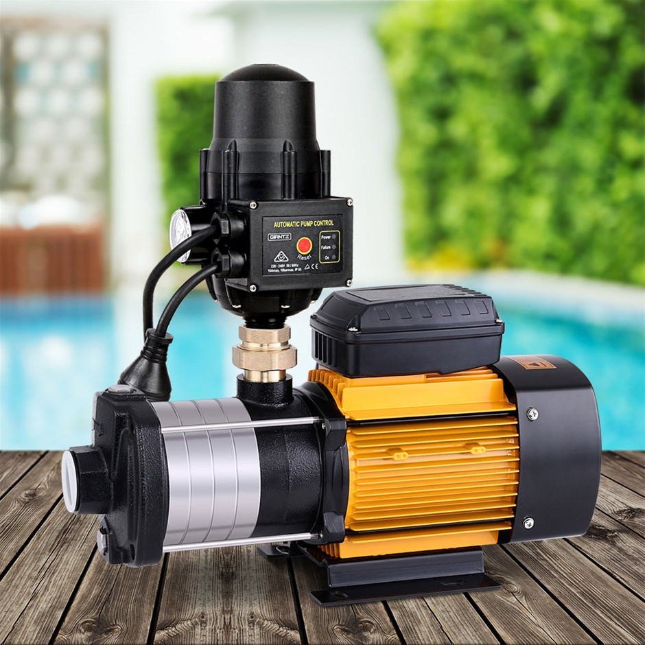 Giantz Multi Stage Water Pump Pressure Rain Tank Garden 2000W Black