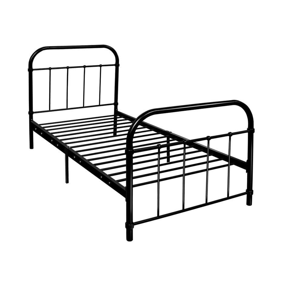 Artiss Metal Bed Frame Single Mattress Base Platform Foundation Black