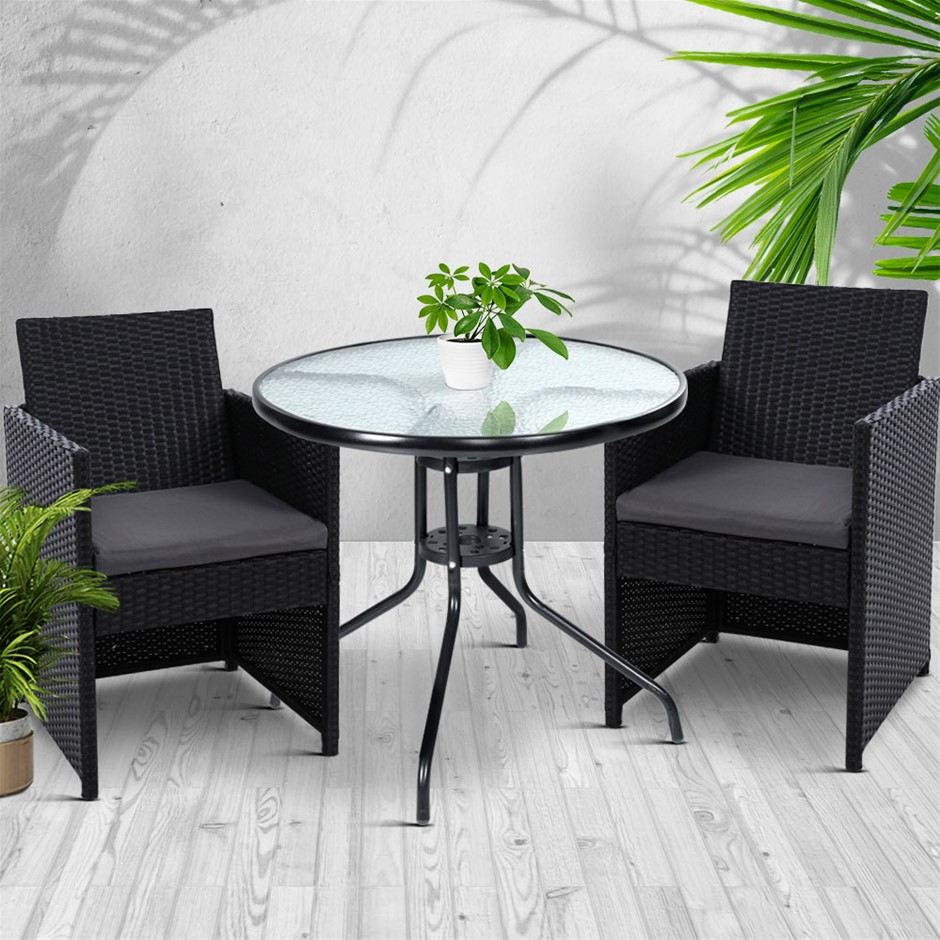 Gardeon Patio Furniture Dining Chairs Table Setting Bistro Cafe Bar Set