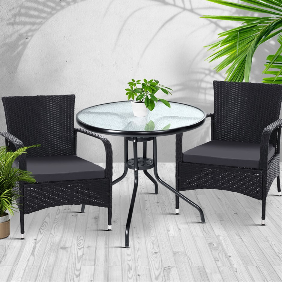 Gardeon Outdoor Dining Chairs Bistro Extra Large Tea Coffee Cafe Bar Set