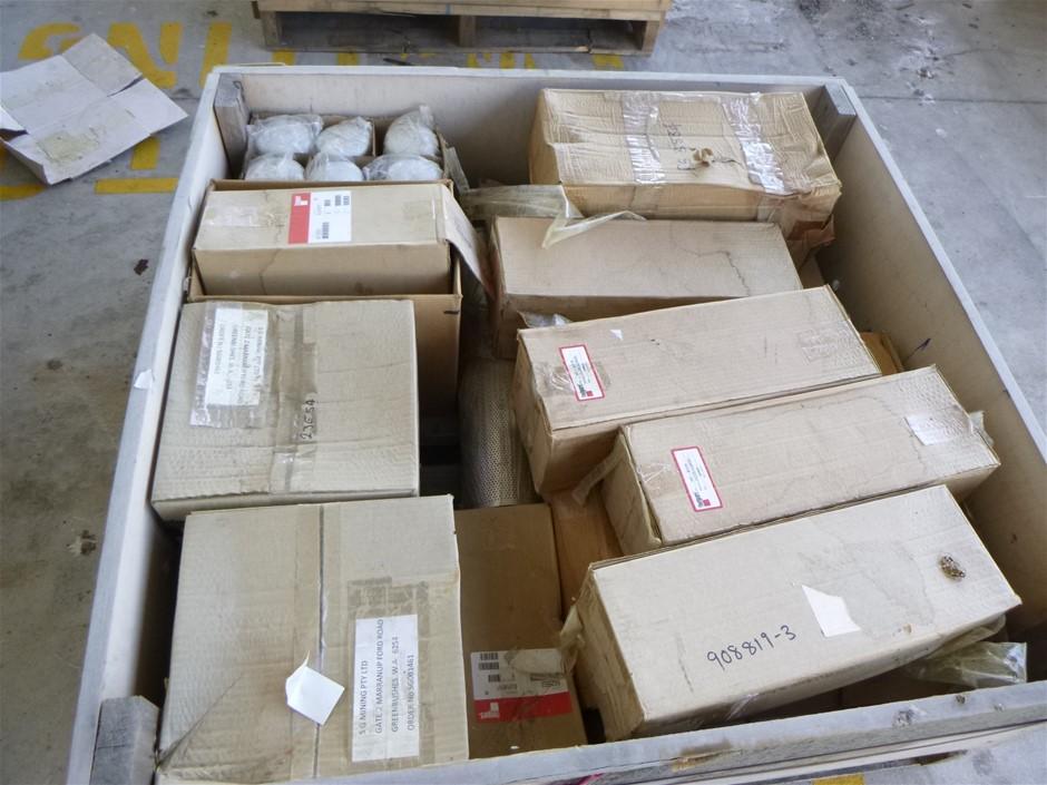 Crate of Assorted Fleetguard Filters