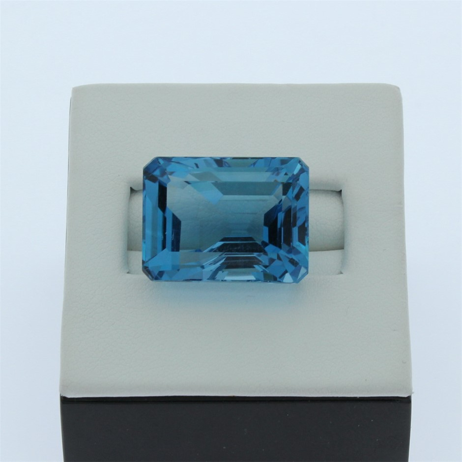 One Loose Blue Topaz 65.30ct in Total