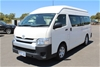 2016 Toyota Hiace Commuter KDH223R Turbo Diesel Automatic 12 Seats Bus